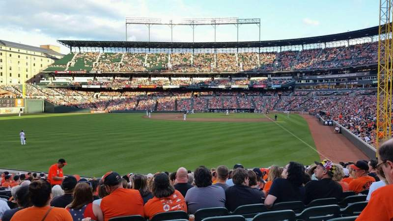 Seating view for Oriole Park at Camden Yards Section 78 Row 19 Seat 14