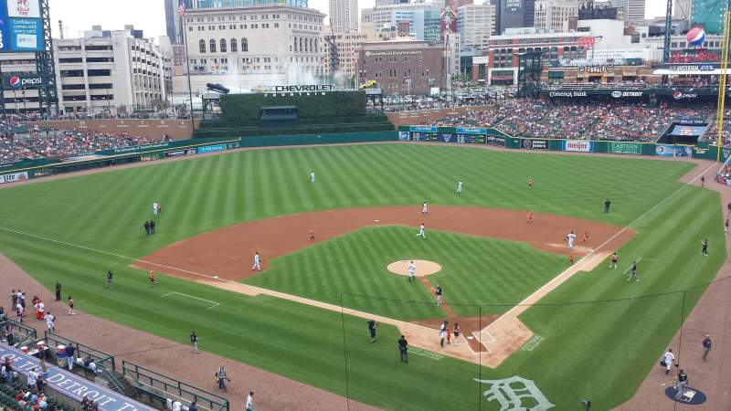 Seating view for Comerica Park Section 329 Row A Seat 10