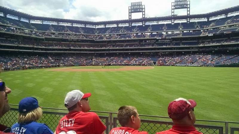 Seating view for Citizens Bank Park Section 102 Row 3 Seat 12
