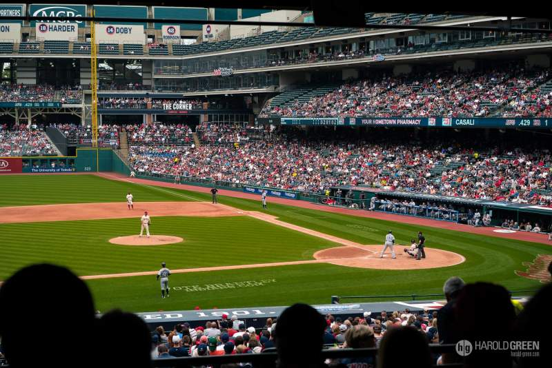 Seating view for Progressive Field Section 262 Row E Seat 6