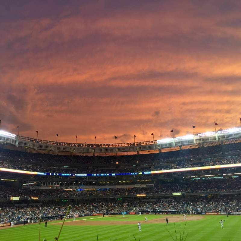 Seating view for Yankee Stadium Section 202 Row 1 Seat 15