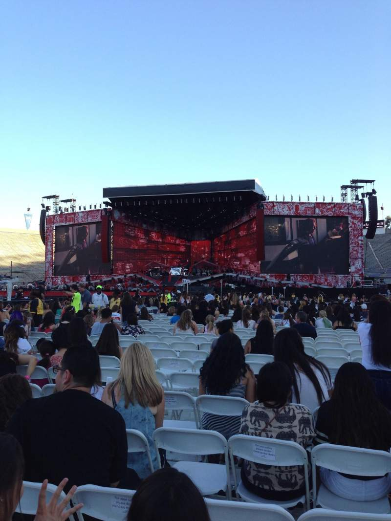 Seating view for Rose Bowl Section B2 Row 34 Seat 11