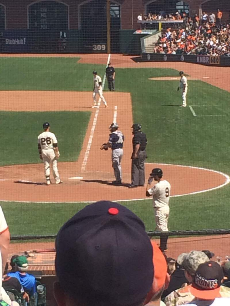 Seating view for AT&T Park Section 119 Row 27 Seat 14
