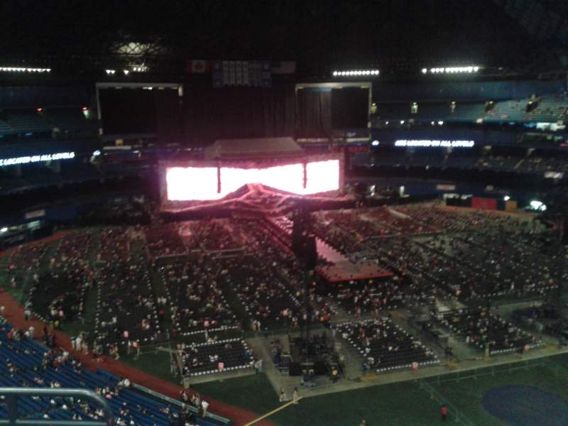 Seating view for Rogers Centre Section 527 Row 12 Seat 3
