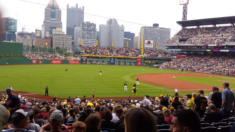 Seating view for PNC Park Section 128 Row Z Seat 11