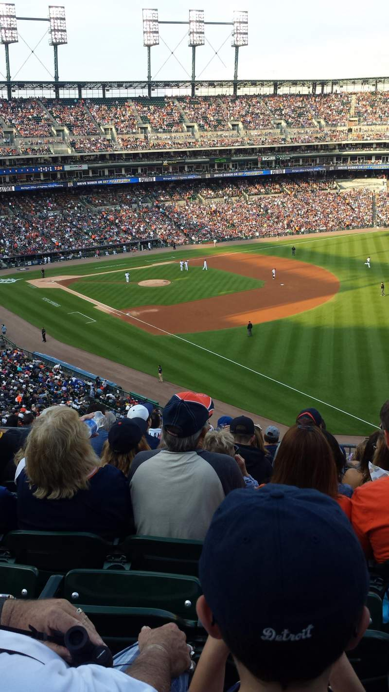 Seating view for Comerica Park Section 213 Row 10 Seat 3