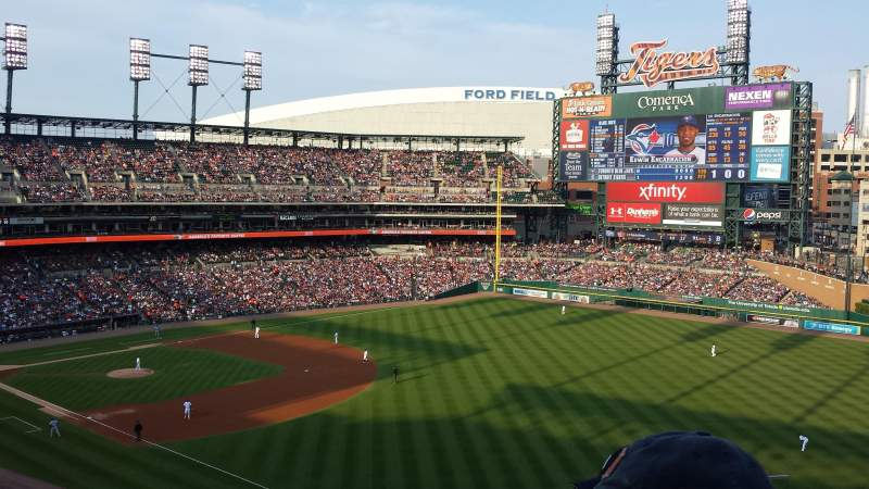 Seating view for Comerica Park Section 212 Row 2 Seat 8