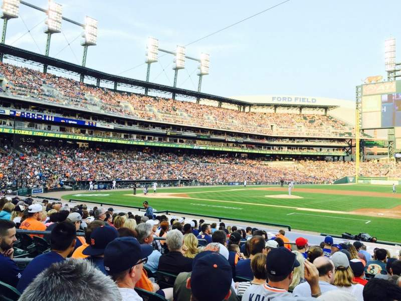 Seating view for Comerica park Section 120 Row 20 Seat 4