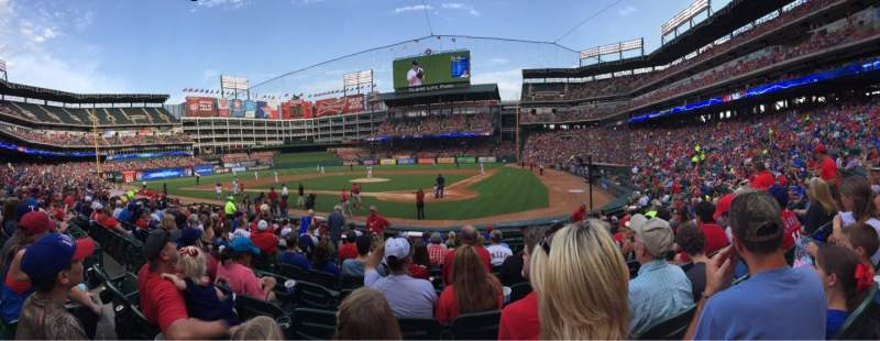 Seating view for Globe Life Park in Arlington Section 23 Row 10 Seat 8