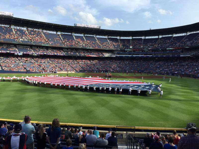 Seating view for Turner Field Section 146 Row 26 Seat 101