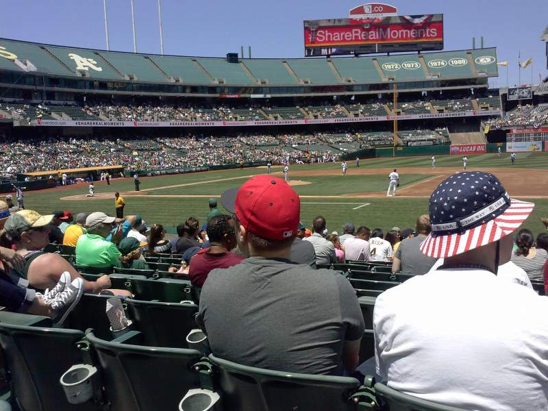 Seating view for Oakland Alameda Coliseum Section 111 Row 16 Seat 3