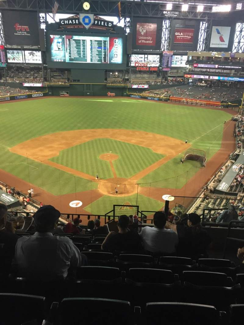 Seating view for Chase Field Section 317 Row 14 Seat 4
