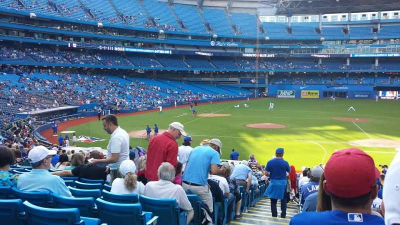 Seating view for Rogers Centre Section 117R Row 34 Seat 1