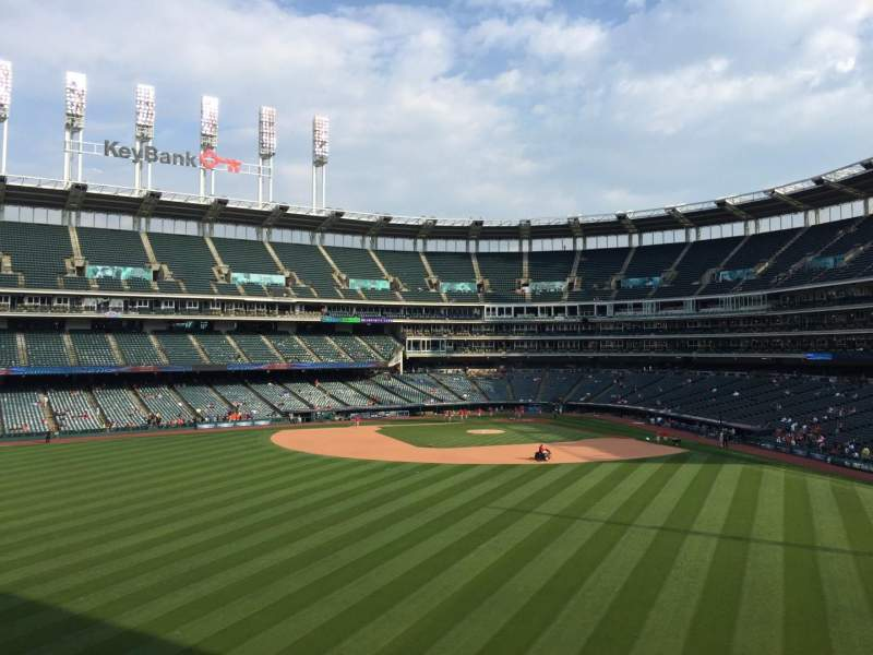 Seating view for Progressive Field Section 183 Row L Seat 13