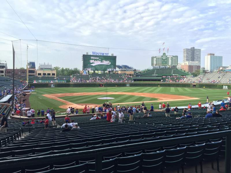 Seating view for Wrigley Field Section 223 Row 2 Seat 10
