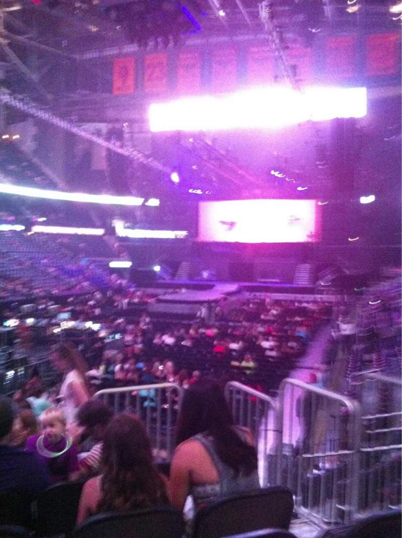Seating view for Philips arena Section 108 Row G Seat 3