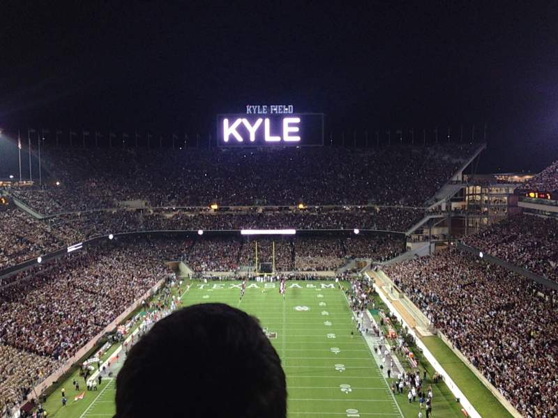 Seating view for Kyle Field Section 511 Row 7 Seat 3