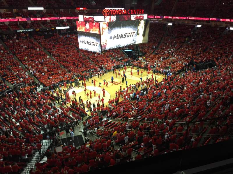 Seating view for Toyota Center Section 414 Row 2 Seat 2