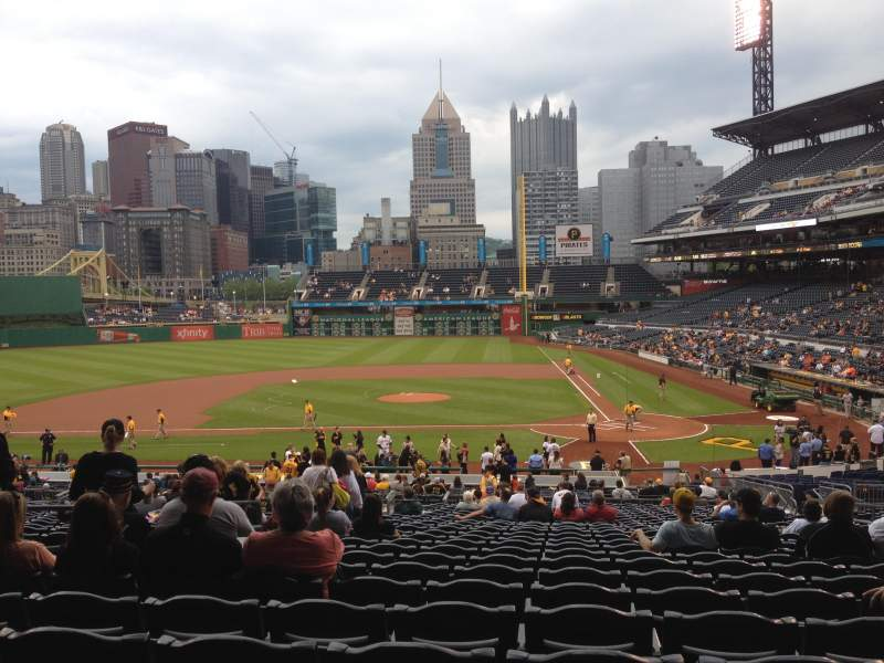 Seating view for PNC Park Section 120 Row BB Seat 12