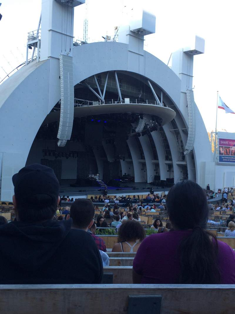 Seating view for Hollywood bowl Section E Row 9 Seat 41