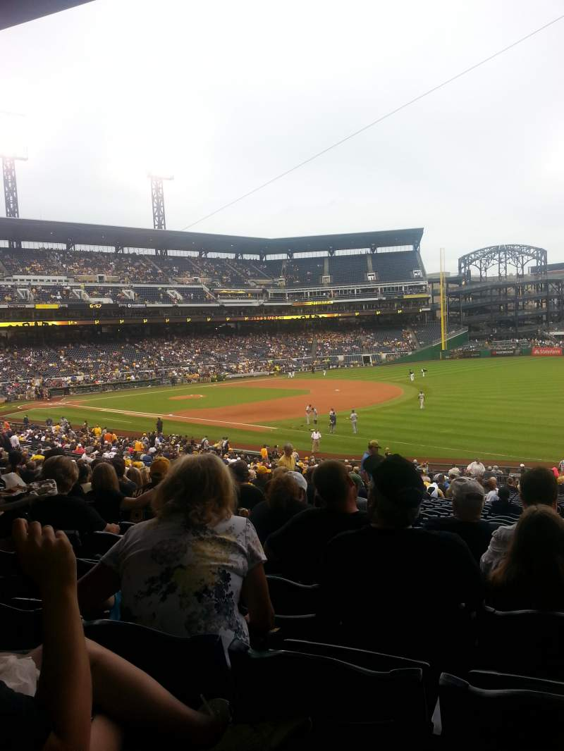 Seating view for PNC Park Section 103 Row cc Seat 9