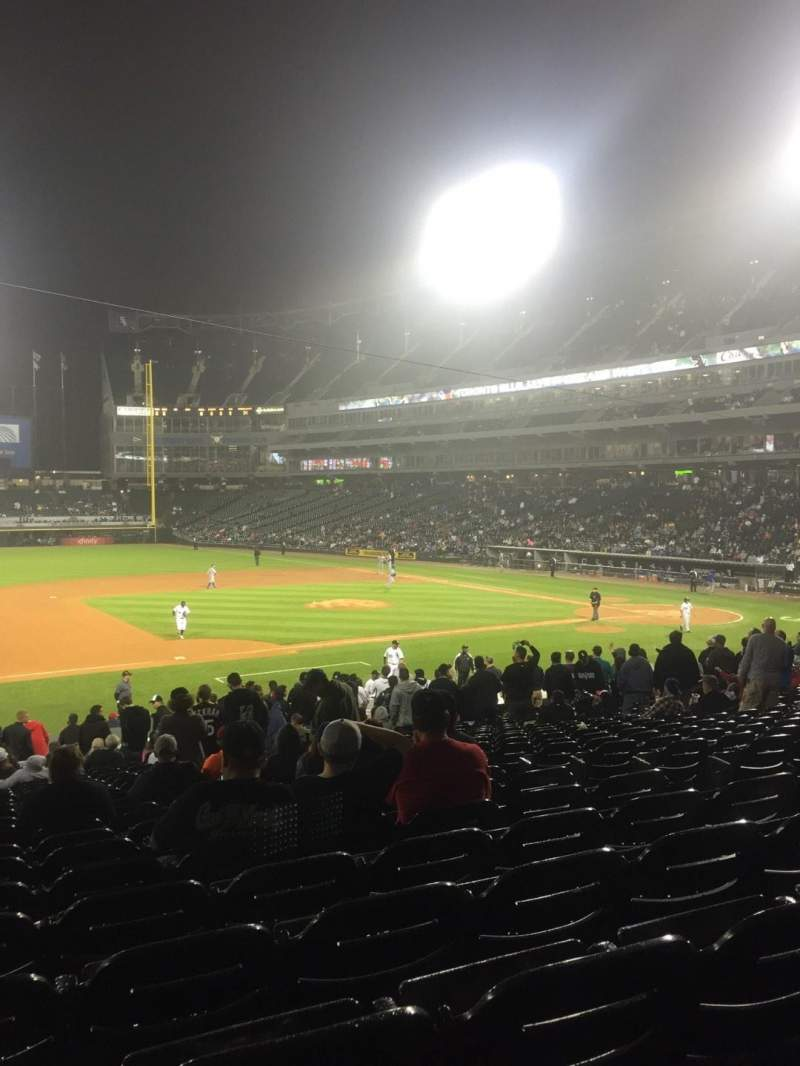 Seating view for Guaranteed Rate Field Section 142 Row 28 Seat 7