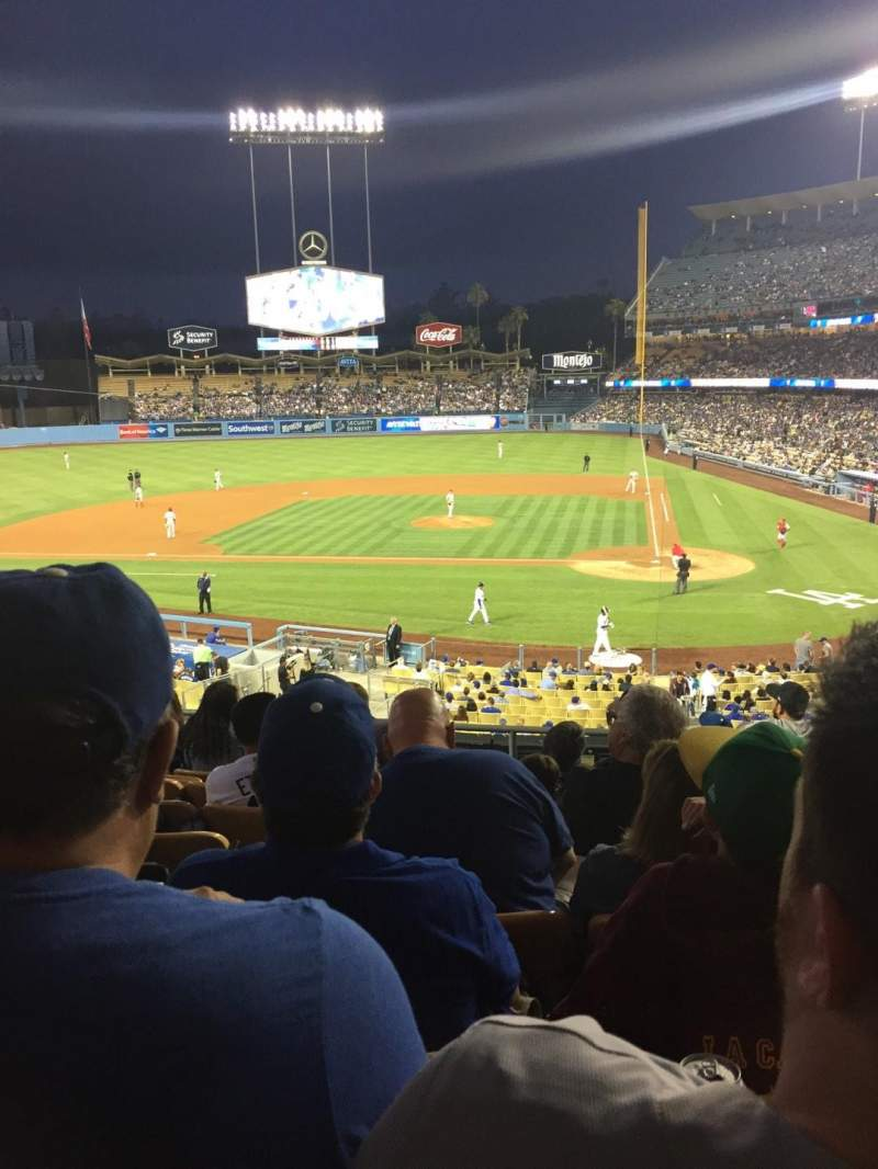 Seating view for Dodger Stadium Section 119lg Row H Seat 6
