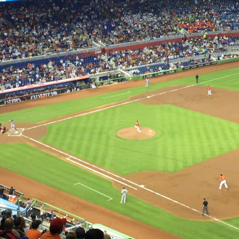 Seating view for Marlins Park Section 305 Row 11 Seat 15
