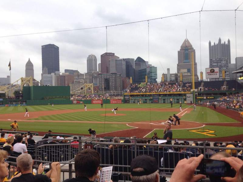 Seating view for PNC Park Section 119 Row D Seat 12