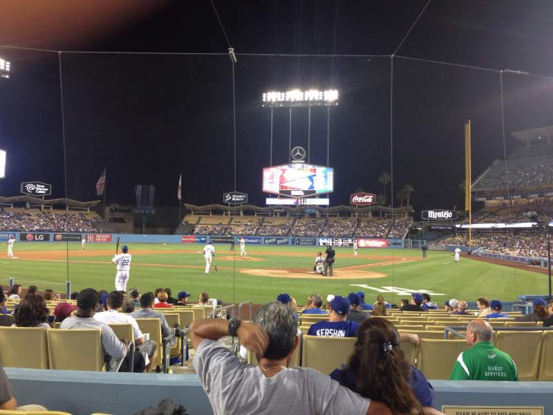 Seating view for Dodger Stadium Section Field 5 VIP Row D Seat 1