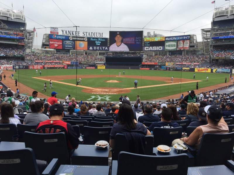 Seating view for Yankee Stadium Section 120A Row 25 Seat 6