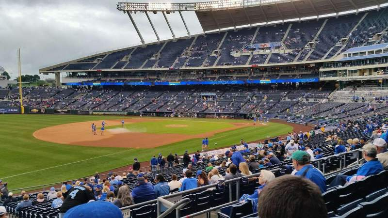 Seating view for Kauffman Stadium Section 213 Row EE Seat 12