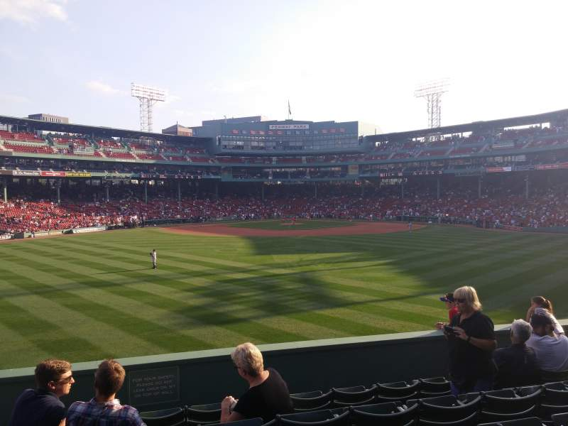 Seating view for Fenway Park Section Bleacher 35 Row 7 Seat 12