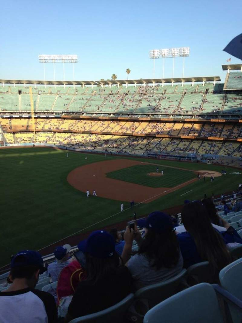Seating view for Dodger Stadium Section 39RS Row N Seat 15