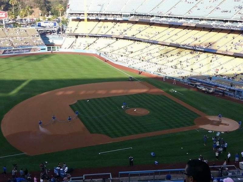 Seating view for Dodger Stadium Section 23RS Row R Seat 7