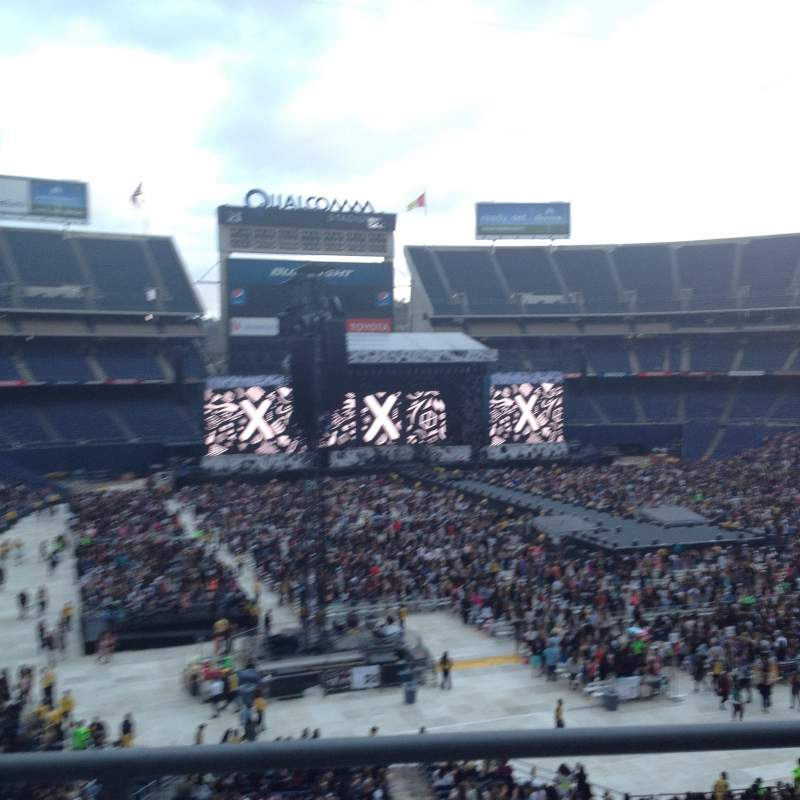 Seating view for Qualcomm Stadium Section LV17 Row 2 Seat 6