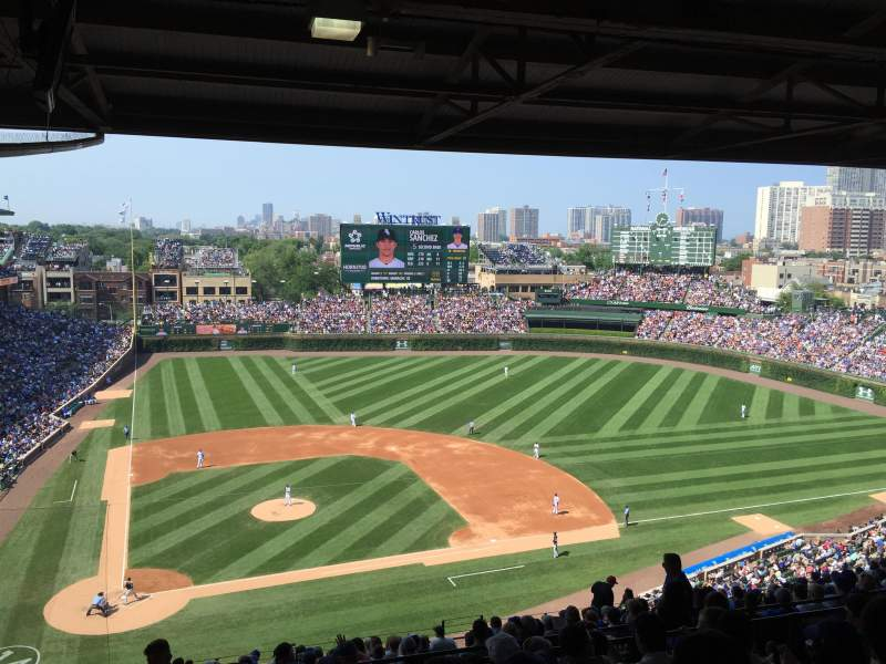 Seating view for Wrigley Field Section 422R Row 7 Seat 5