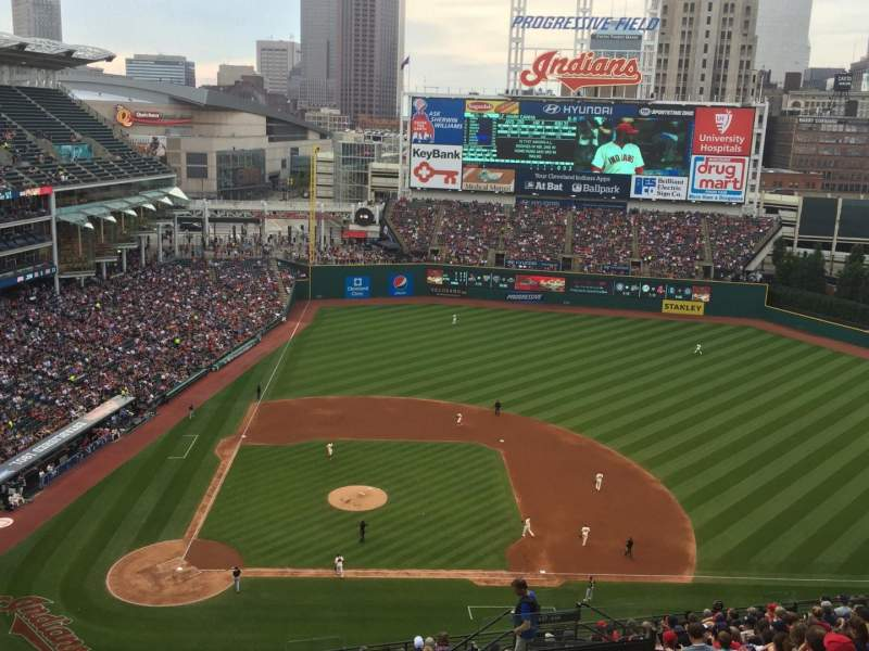 Seating view for Progressive Field Section 548 Row Q Seat 6