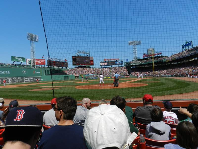 Seating view for Fenway Park Section Field Box 48 Row B Seat 4