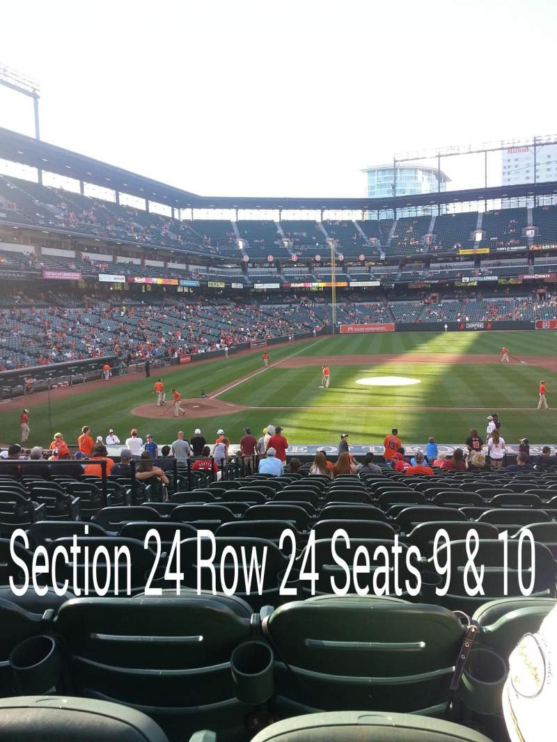 Seating view for Oriole Park at Camden Yards Section 24 Row 24 Seat 9