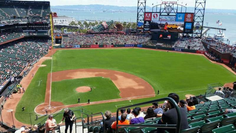 Seating view for AT&T Park Section 311 Row 11 Seat 2