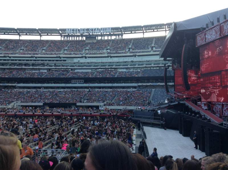 Seating view for MetLife Stadium Section 110 Row 11 Seat 12