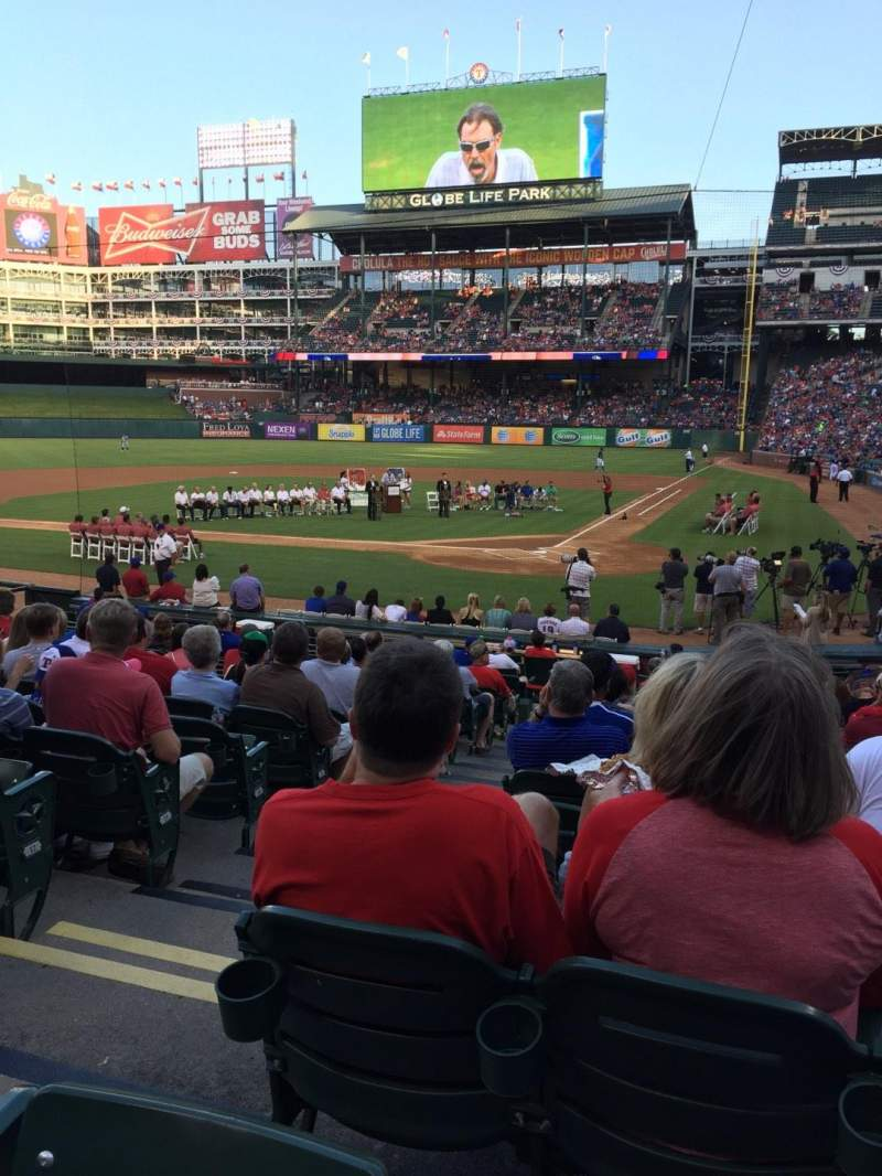 Seating view for Globe Life Park in Arlington Section 23 Row 15 Seat 3