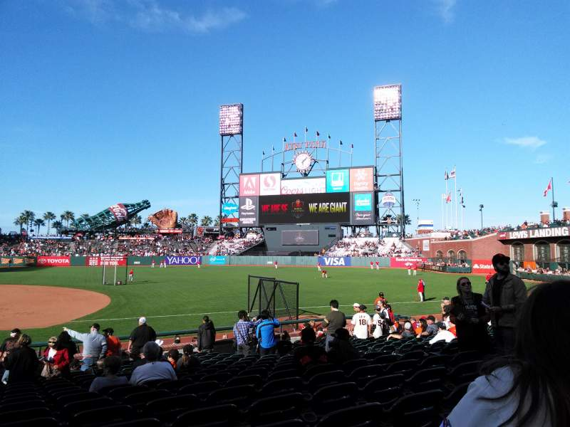 Seating view for AT&T Park Section 106 Row 18 Seat 9