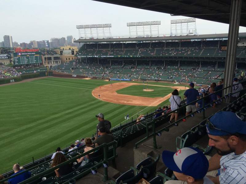 Seating view for Wrigley Field Section 503 Row 4 Seat 107