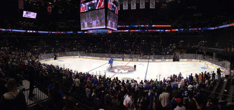 Seating view for Barclays Center Section 106 Row 2 Seat 8