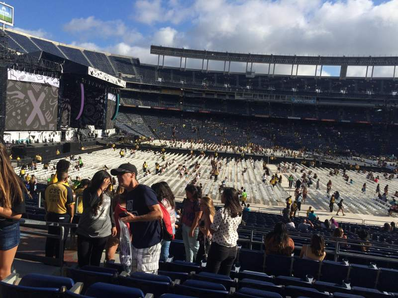 Seating view for Qualcomm Stadium Section P5 Row 7 Seat 4