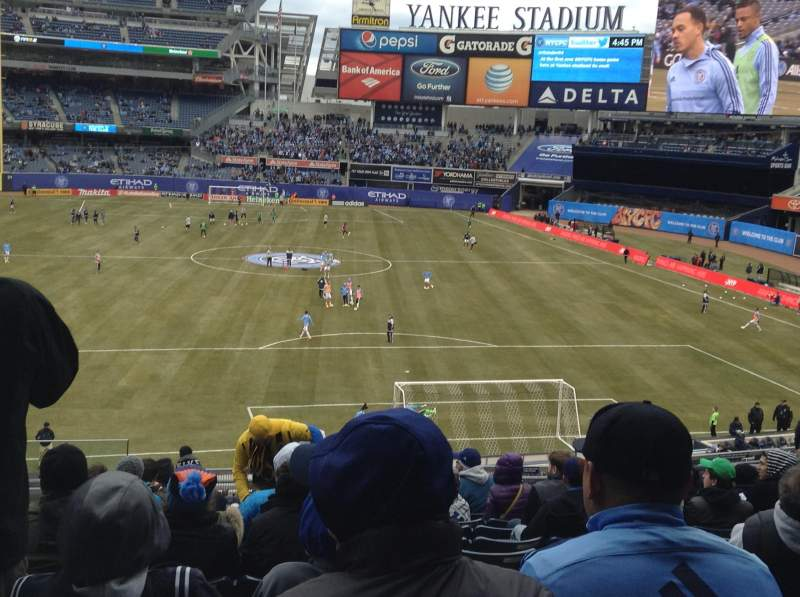 Yankee Stadium Section 214a Row 12 Seat 13 Nycfc Vs New