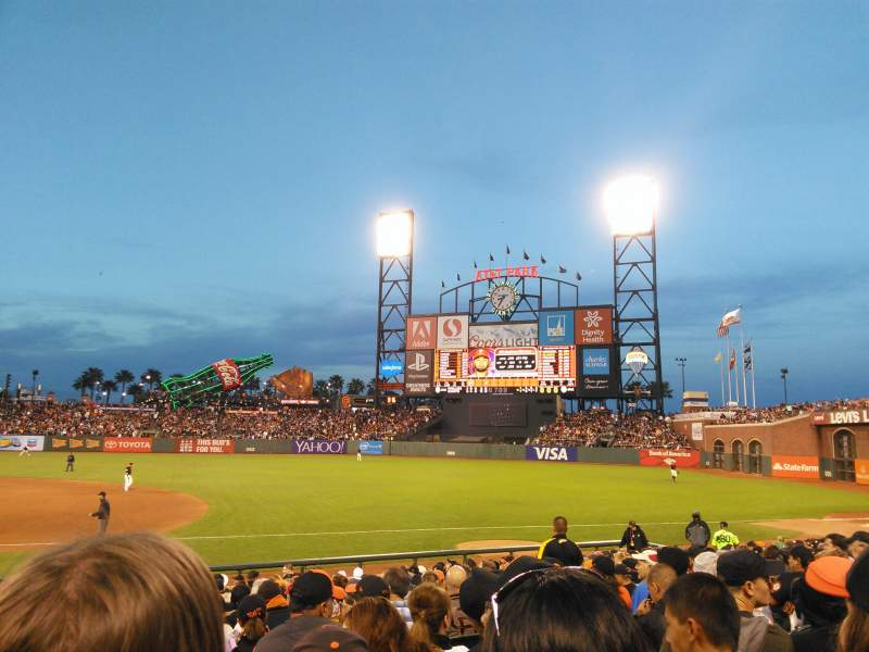 AT&T Park, section: 106, row: 18, seat: 9