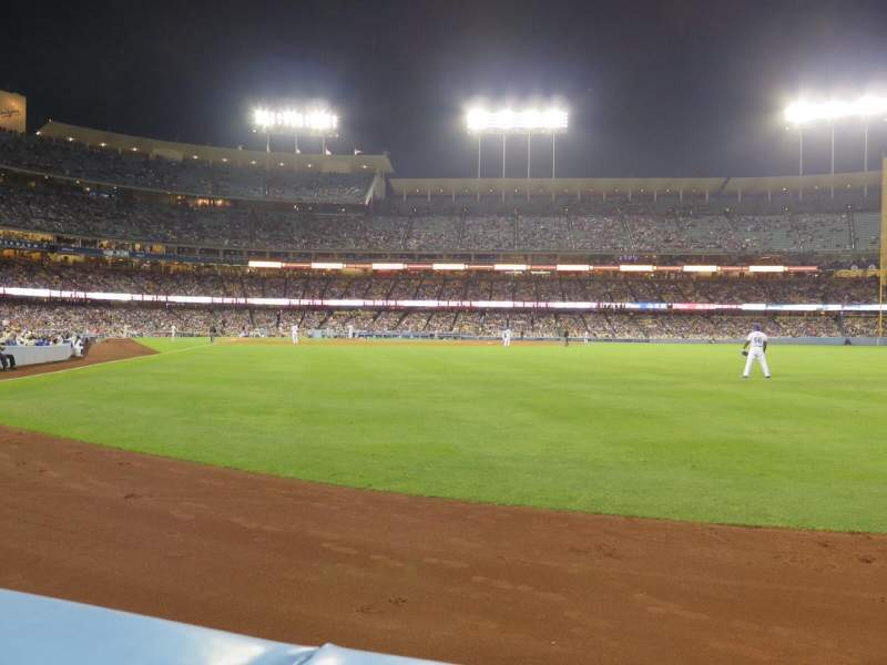 Seating view for Dodger Stadium Section 52FD Row AA Seat 1